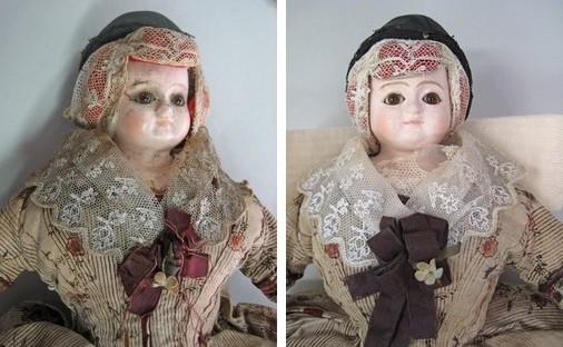 Nettoyage et consolidation d'une poupée, MONTBELIARD - Musée Beurnier-Rossel