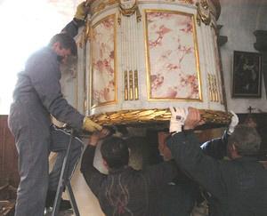 Remontage FORT-DU-PLASNE, Eglise Chaire à prêcher
