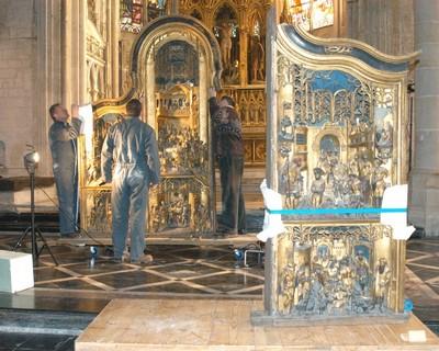 Dépose ROUBAIX, Eglise St Martin retable anversois de St Jean Baptiste