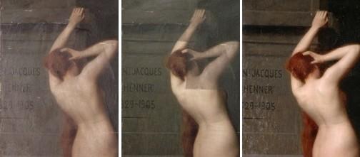MULHOUSE - Musée des Beaux-Arts Auguste ZWILLER, Les nymphes d'Alsace viennent rendre un dernier hommage au tombeau de J.J. Henner  Huile sur toile